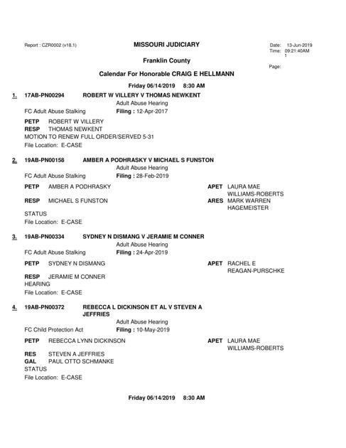 Warren county mo court docket