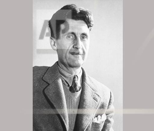 "George Orwell, author of ""1984"""