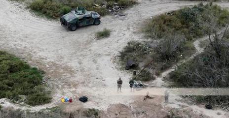 National Guard patrols Rio Grande