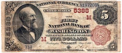 First National Bank of Washington bill at auction