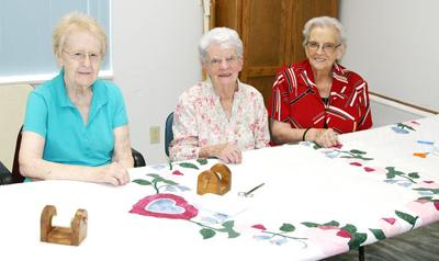 Quilters at County Seat Senior Center