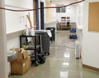 Water Cleanup at South Point School