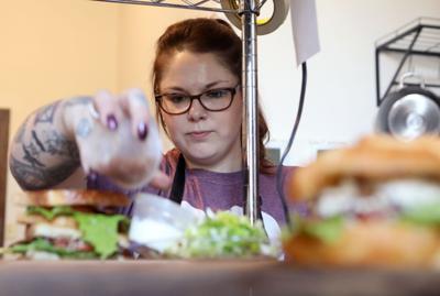 Karissa Jones plates food