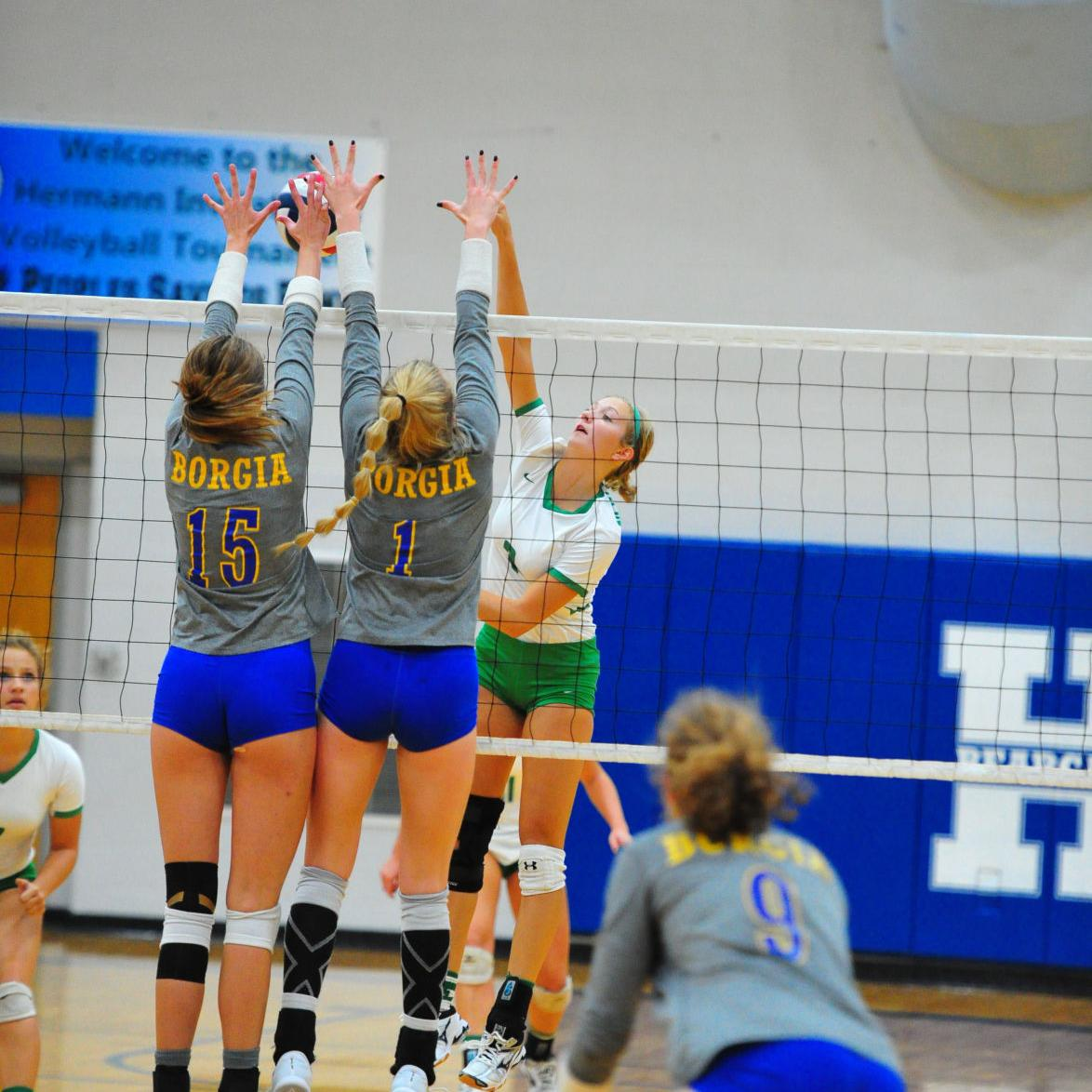 Volleyball — Borgia vs. New Haven, Hermann Tournament Semifinals