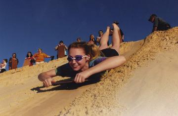 Sand Tobogganing in Australia