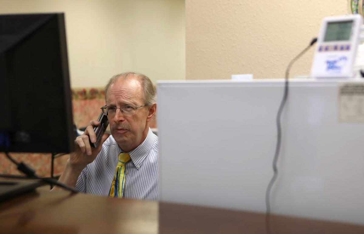 Marty Hinterlong speaks on the phone