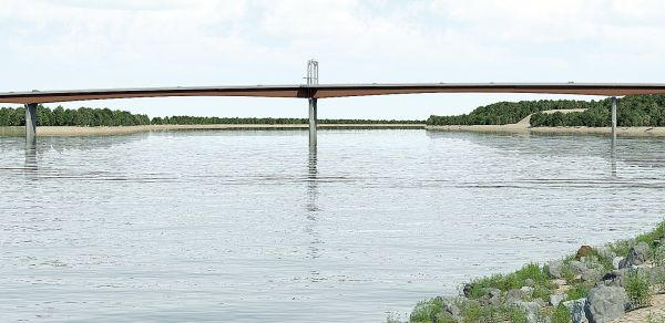 Proposed Missouri River Bridge Design for Washington