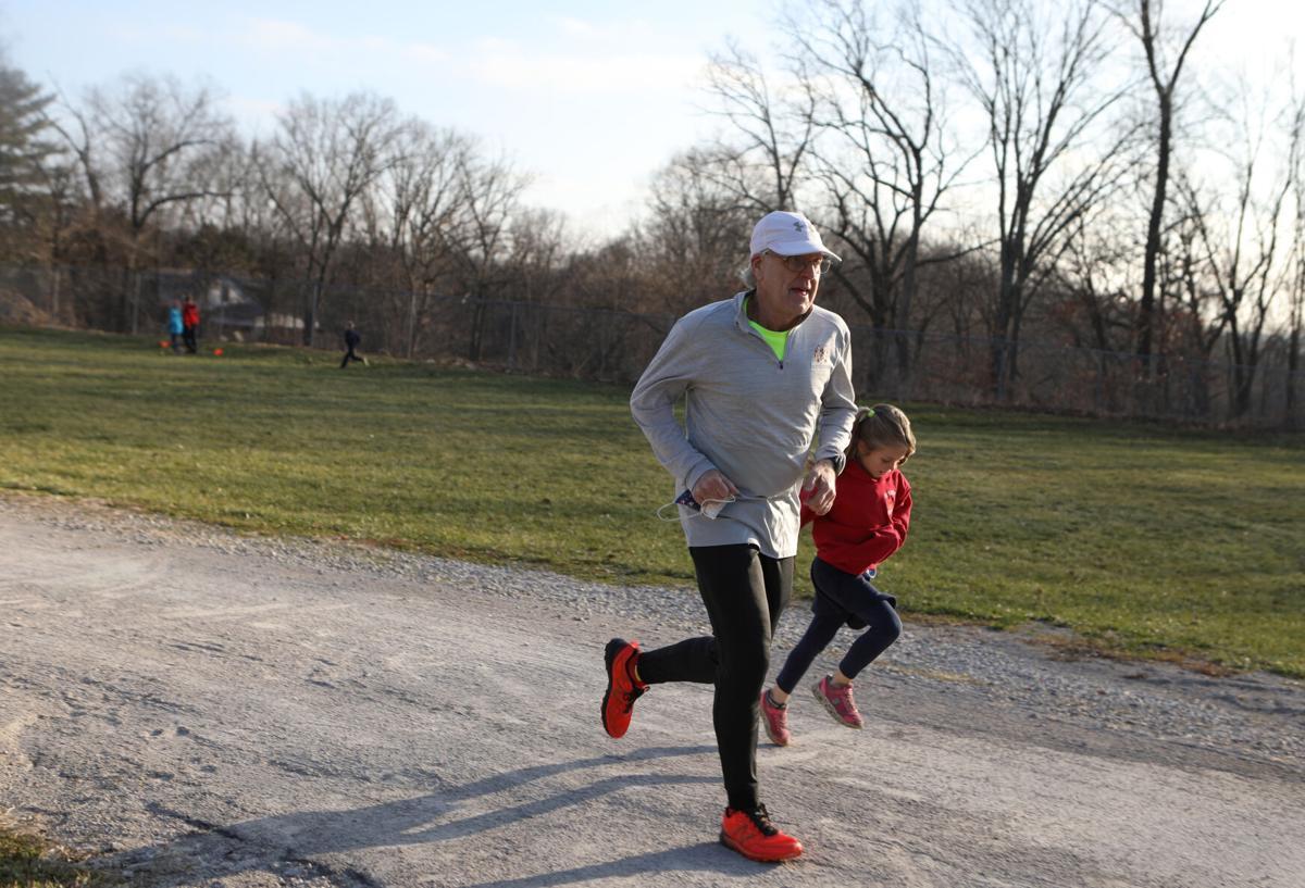 Mark Spann and Vivian Boenker run