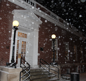 Snow at the Downtown Post Office