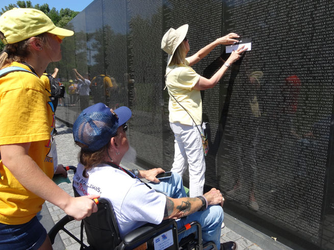 At Vietnam Memorial in Washington, D.C.