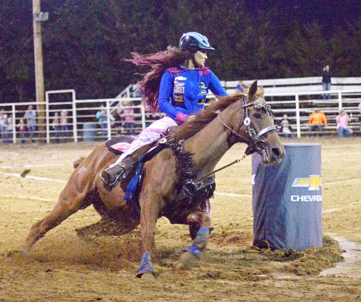 Fallon Taylor Holds Barrel Race in St. Clair
