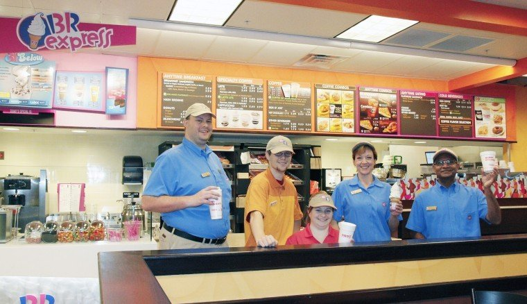 Dunkin Donuts Baskins Robbins Opens In Wal Mart