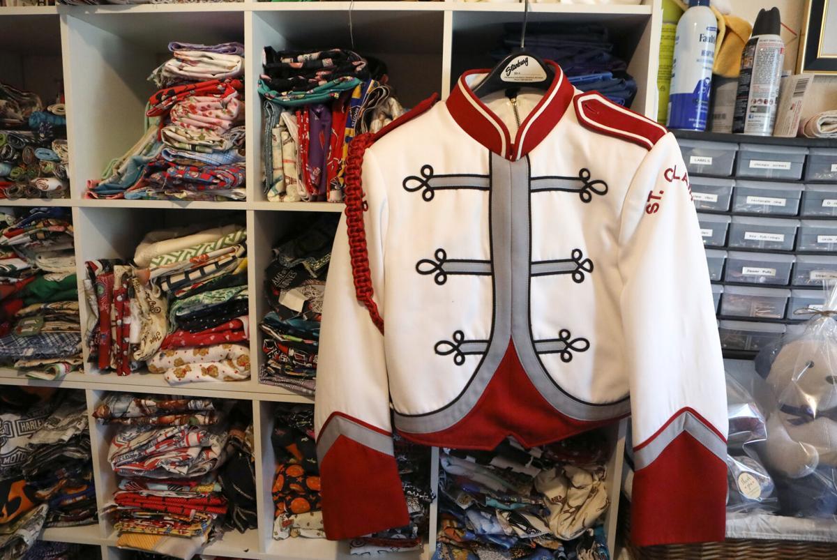 An old St. Clair band uniform hangs