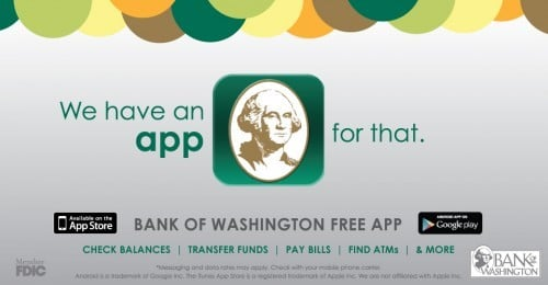 Sponsored By Bank Of Washington