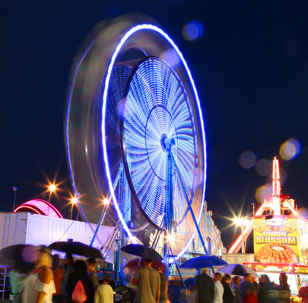 Fair Midway at Night