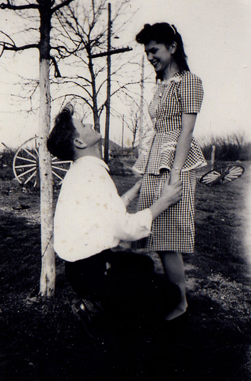 Tracy and Dorothy, high school sweethears