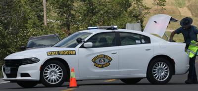 State trooper guards Highway 47 crash