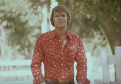 "Glen Campbell in ""Rhinestone Cowboy"" Video"