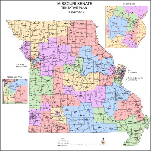 Commission Approves New Missouri State Senate Districts State - Map of missouri state
