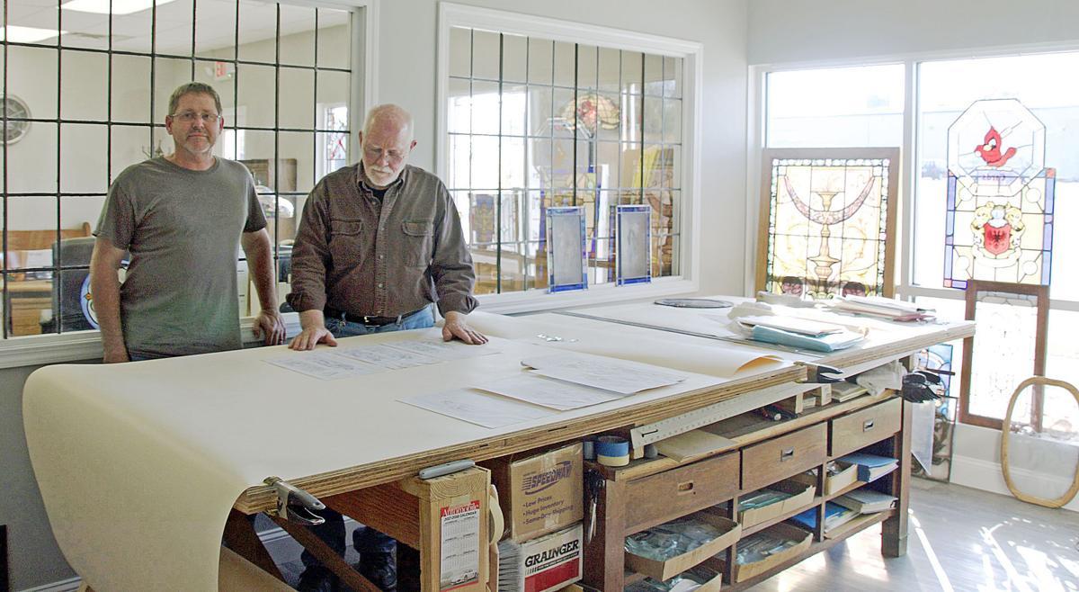 Colored Glass Adorns Studio
