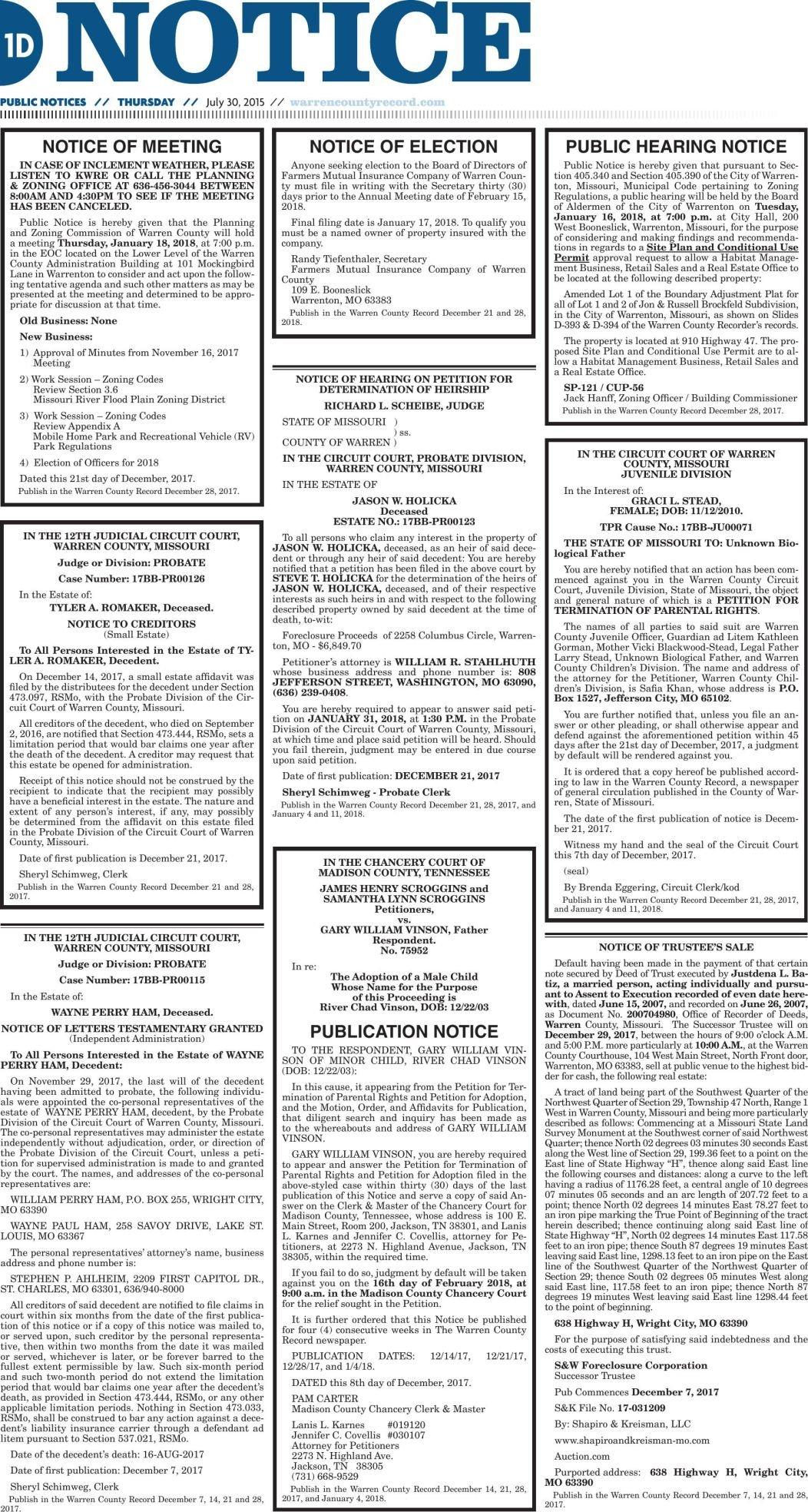 Marthasville Legals 12.28.17