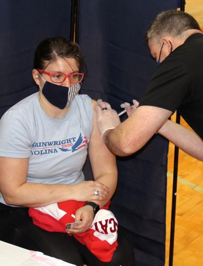 Claire Smith Gets COVID-19 Vaccine