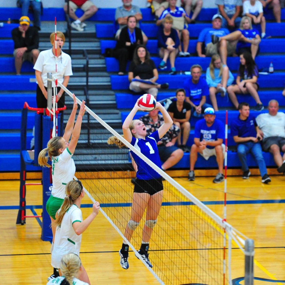 Volleyball — Hermann vs. New Haven, Hermann Tournament Third Place