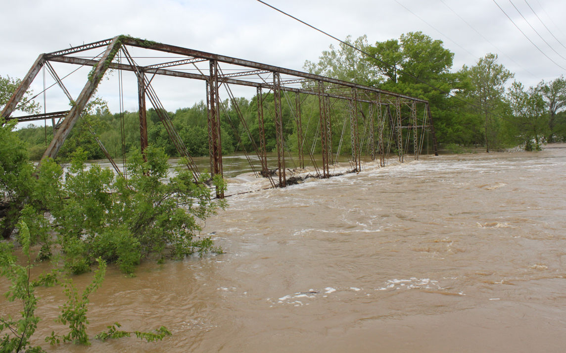 Bruns Bridge Destroyed by Floodwaters