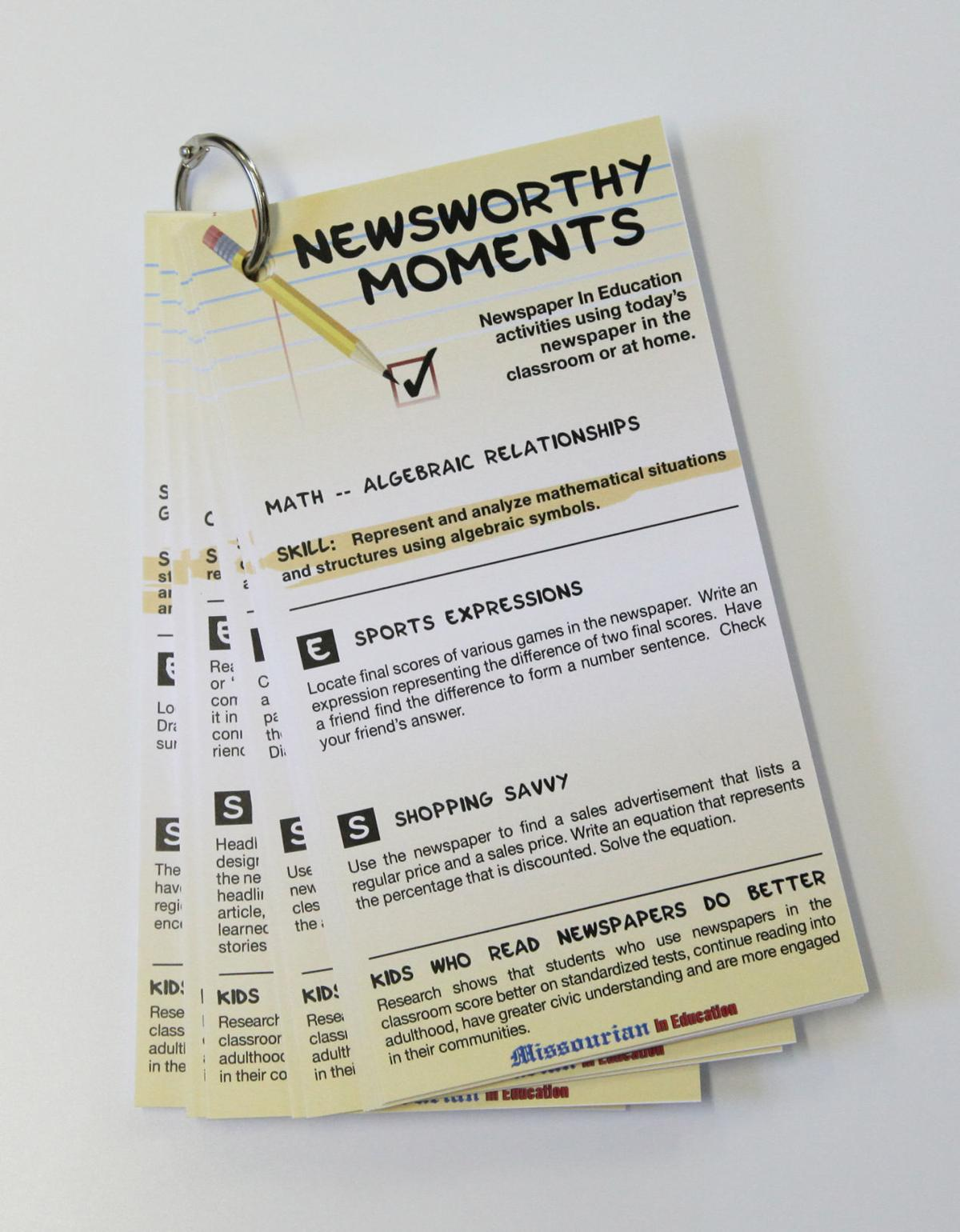 Newsworthy Moments Task Cards