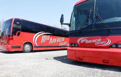 Charter buses at Mid-American Coaches