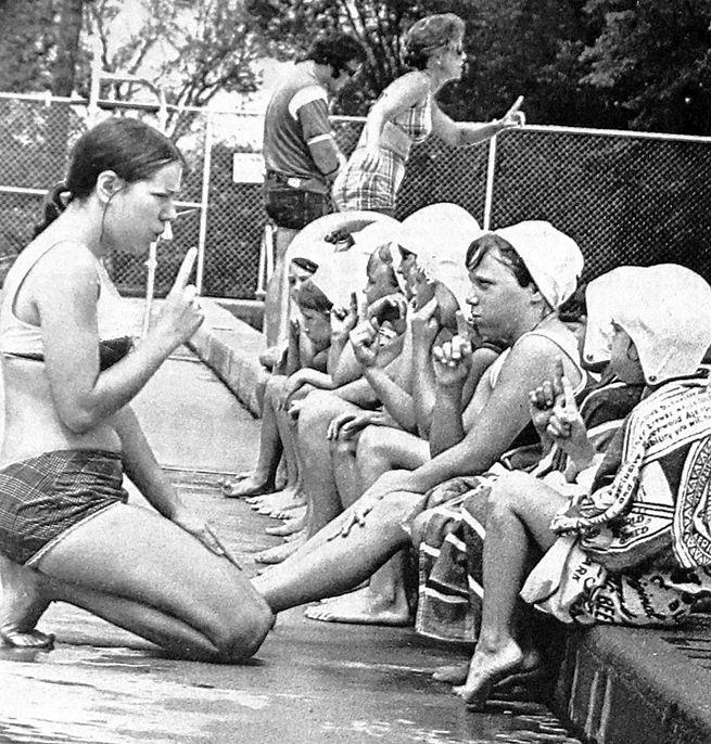 A Swim Lesson, June 1971