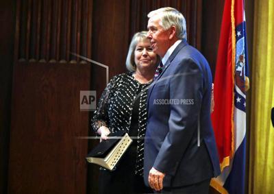 Virus Outbreak Missouri Governor's Wife
