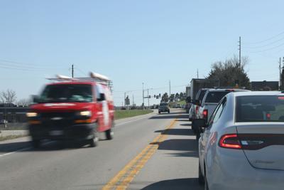 Traffic on Highway 47