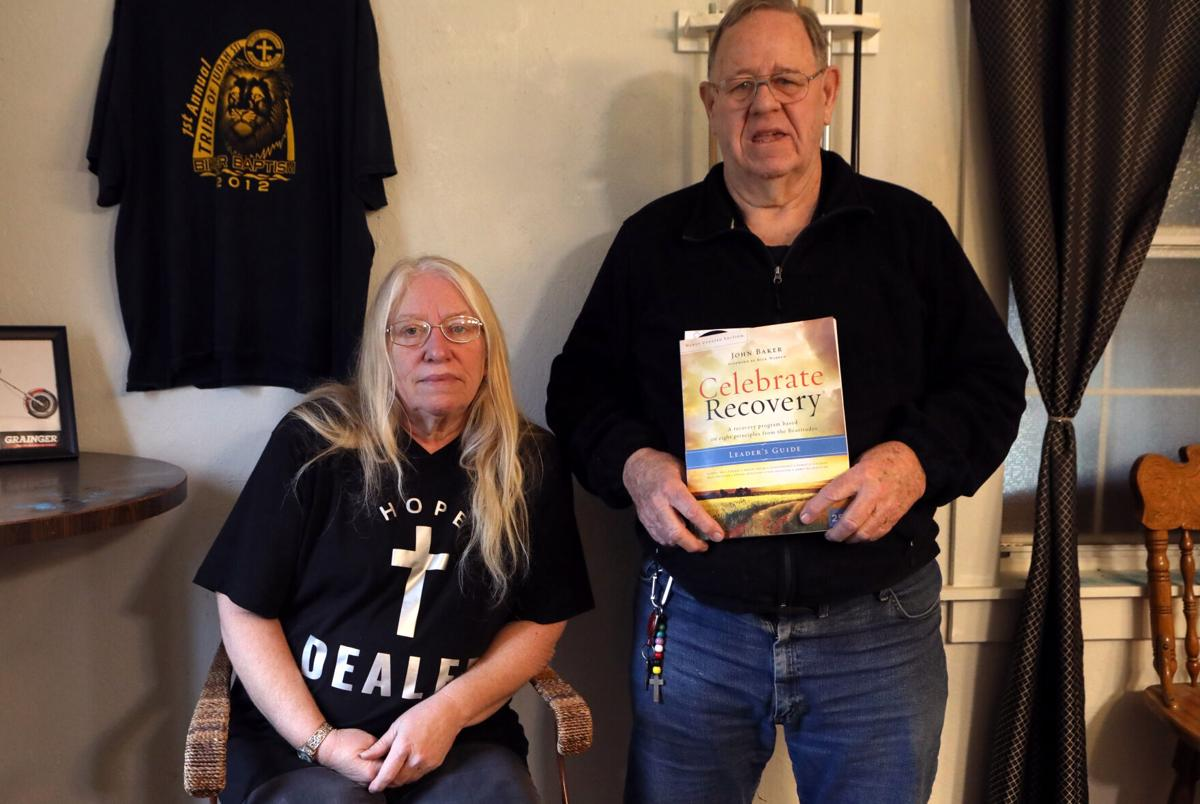 Donna Fowler and Ron Spurgeon photographed in Leslie