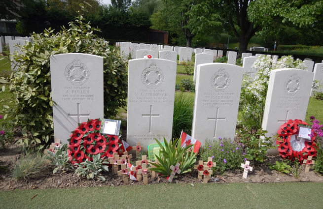 Graves at Essex Farm Cemetery