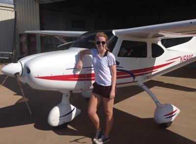 Samantha Brinker, Pilot
