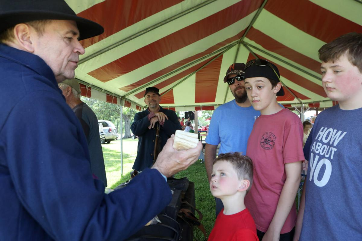 Ron Burke shows examples of Civil War rations