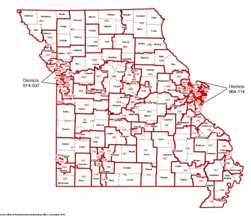 Missouri House of Reps Map