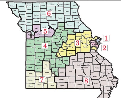 Missouri Congressional District Map
