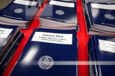 Copies of Trump budget proposal