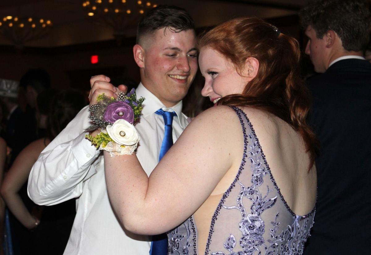 Elizabeth Brennecke and James Scott dance