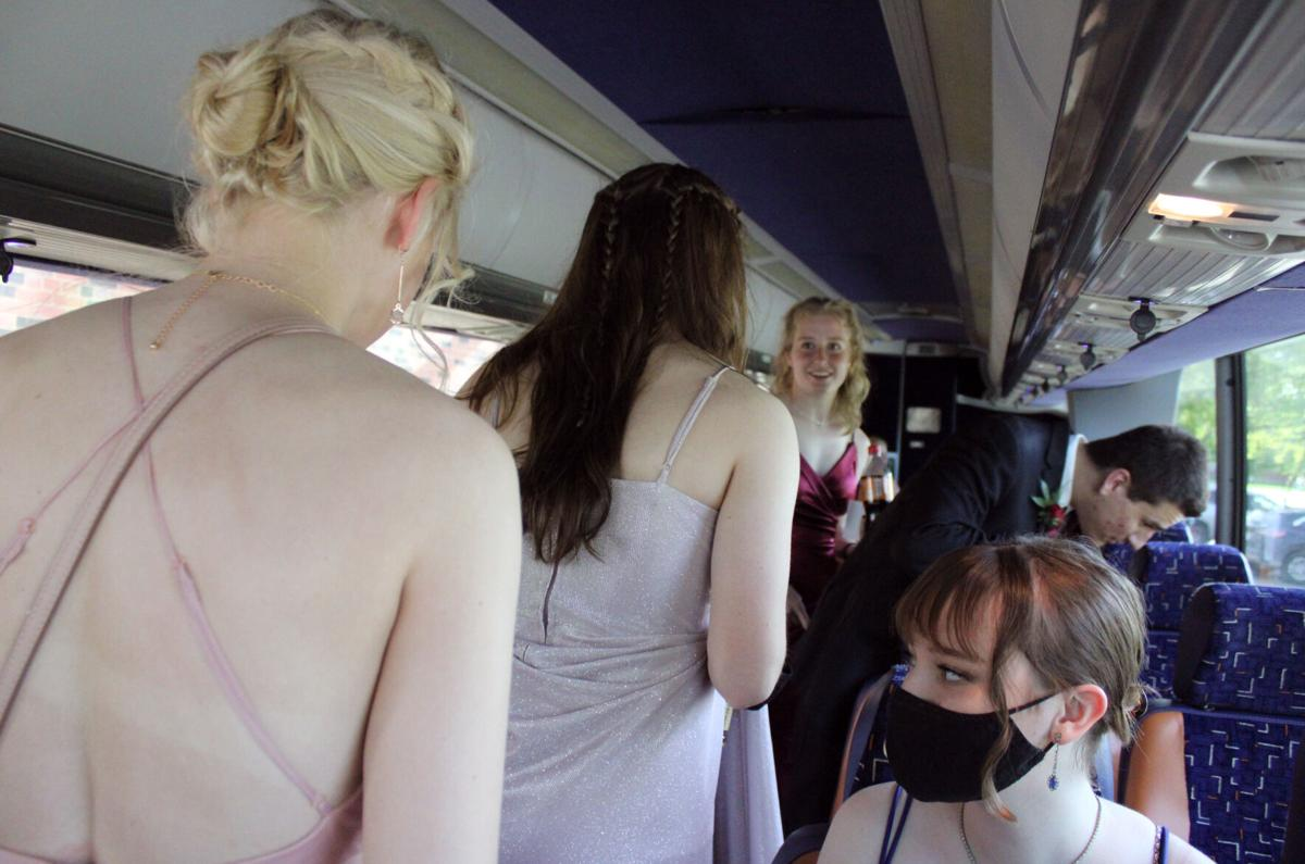 Student board the prom bus