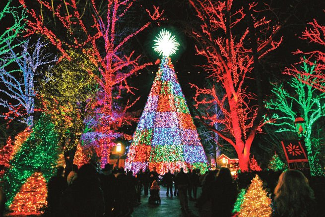 Christmas Lights Display At Silver Dollar City