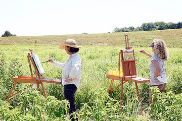 Preparing for Prairie Paint Out