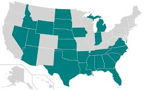 """""""Right-to-Work"""" States in Green"""
