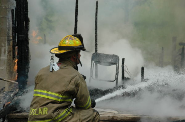St. Clair Firefighters Battle Blaze