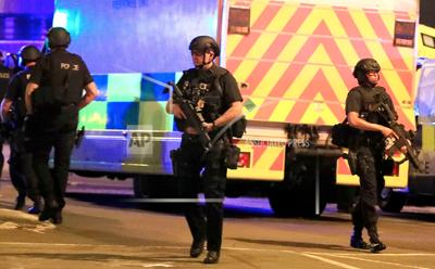Police presence outside venue