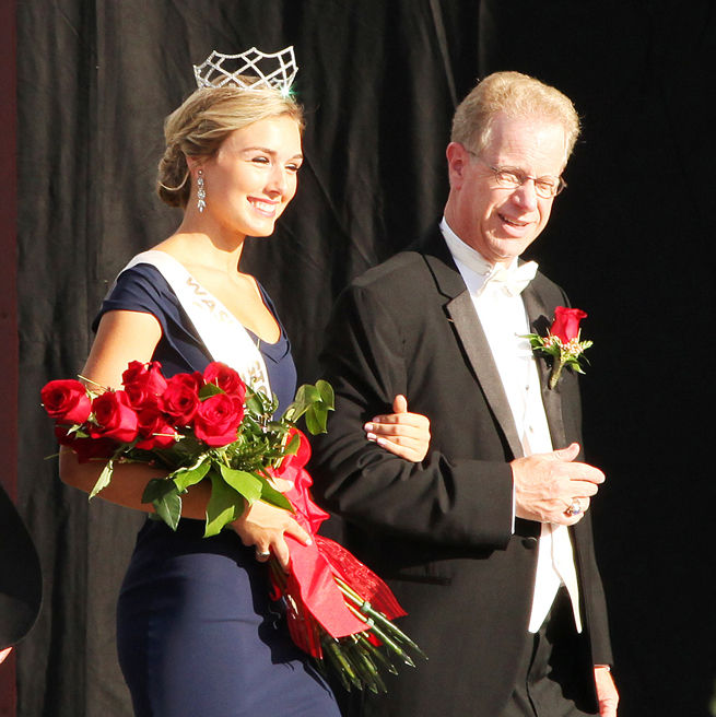 Steve Kuenzel With the 2015 Fair Queen