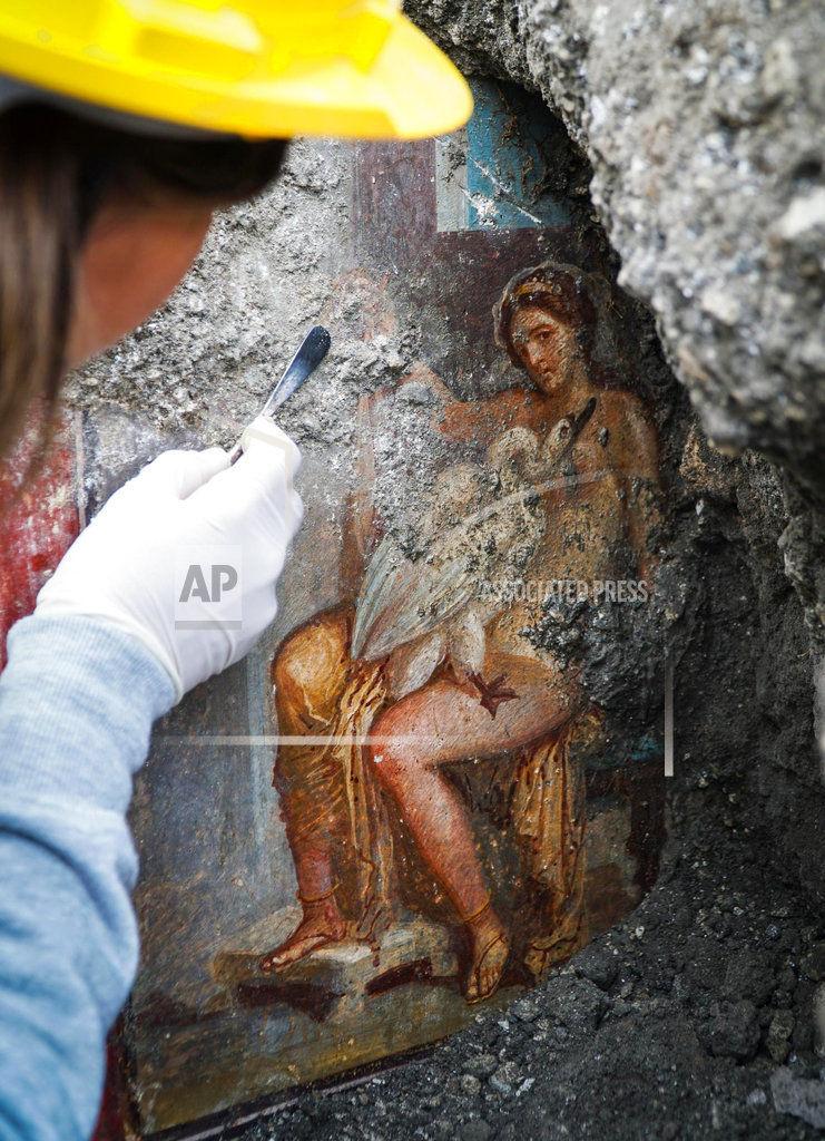 APTOPIX Italy Pompeii Fresco