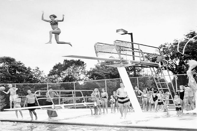 Diving Board Dodge Ball